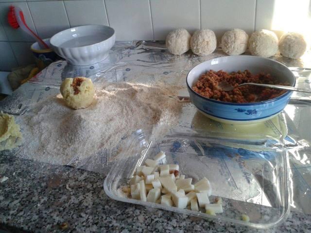 Arancina alla carne- Streat food Palermo