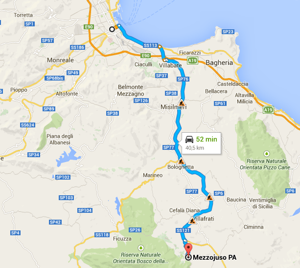 Cartina Sicilia Termini Imerese.Sicily B B Piccola Sicilia