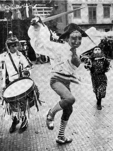 Mastru e tamburino-immagini d'epoca
